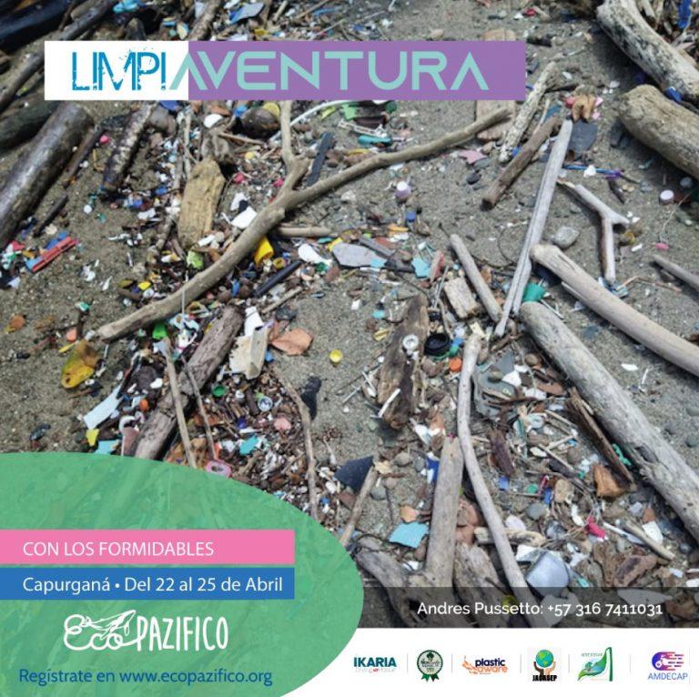 Limpieza de playas Limpiaventura Capurgana 2021